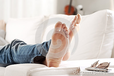 Relaxing Barefoot Stock Photo Image 46286117