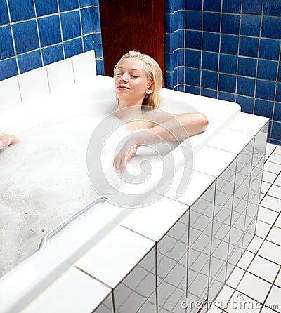 Relaxing Bath Woman