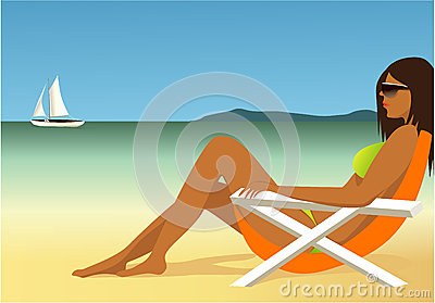Relaxing On The Beach Royalty Free Stock Photos Image 31702488