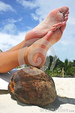 Relaxing Beach Feet