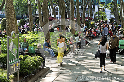 Relaxing Bryant Park Editorial Stock Photo