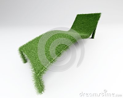 Relaxing chair grass