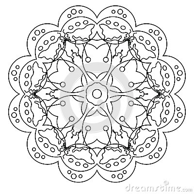 relaxing coloring page with mandala for kids and adults art therapy meditation coloring book stock vector image 72854876 - Art Therapy Coloring Pages Mandala