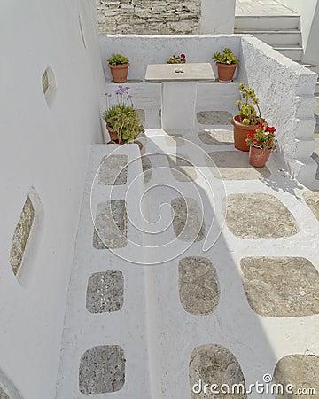Picturesque house yard  in a Mediterranean island