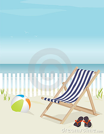 Free Relaxing Day At The Beach Royalty Free Stock Images - 4333269