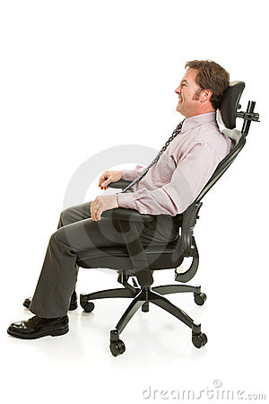 Relaxing in Ergonomic Chair