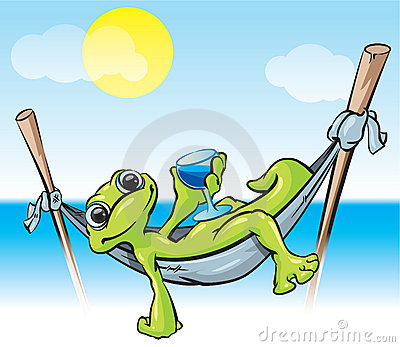 Relaxing Frog Illustration