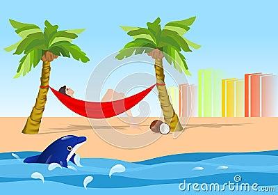 Relaxing in the hammock, cdr vector