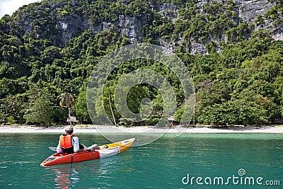 Relaxing Kayaker