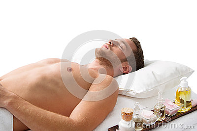Relaxing man in Spa