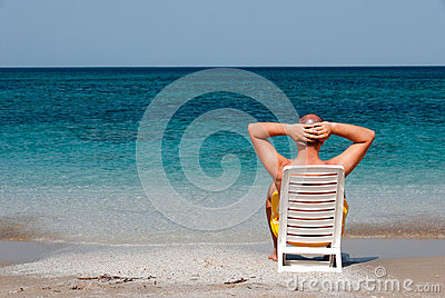 Relaxing in the sea