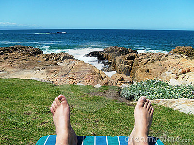 Relaxing by the seaside