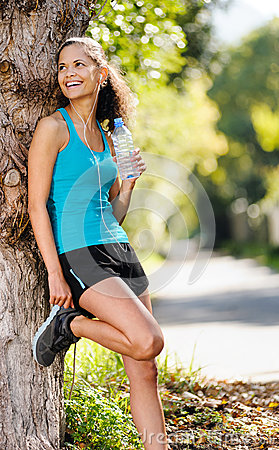 Relaxing sport  woman