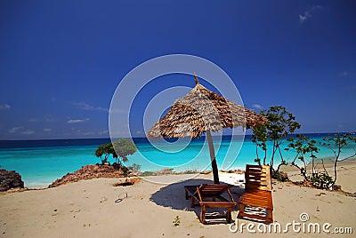 relaxing spot on beach