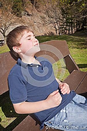 Relaxing in Sun