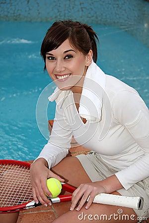 Relaxing Tennis Player