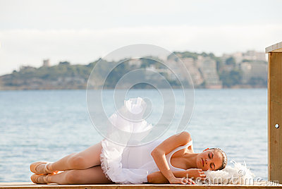 Relaxing vacation or sleep concept