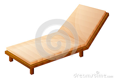 A relaxing wooden bench