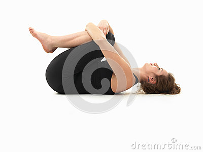 Relaxing yoga pose