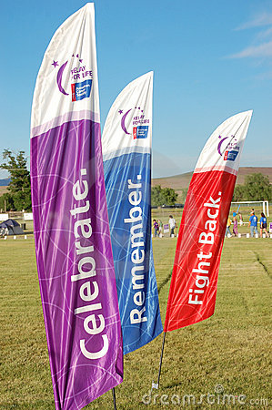 Relay for Life flags Editorial Stock Photo
