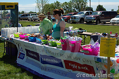 Relay for life fundraiser Editorial Stock Photo
