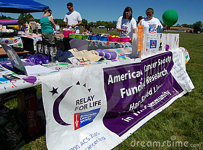 Relay for life fundraiser Editorial Photography
