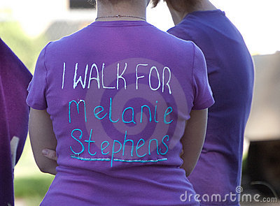 Relay For Life I walk For:  Editorial Stock Image