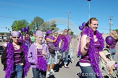 Relay Pride Walkers Editorial Image