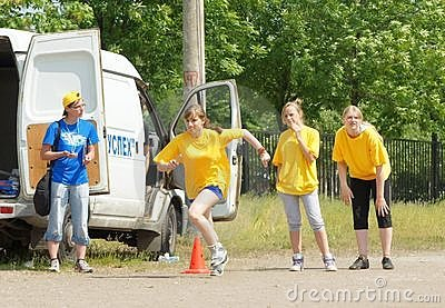 Relay race Editorial Stock Image