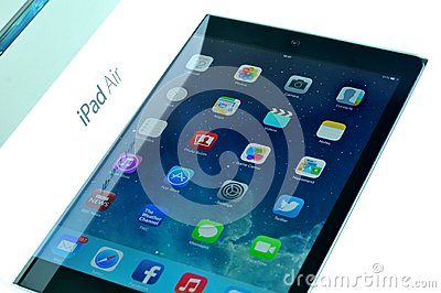 Release of the new iPad Air Editorial Stock Photo