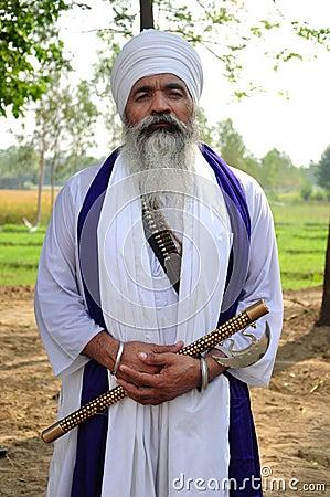 Relegious sikh sant Editorial Stock Image