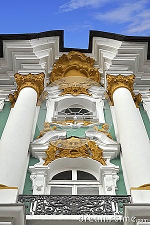 Relevación decorativa del palacio del invierno, St Petersburg