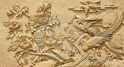 Relief Adornment picture stone material craft