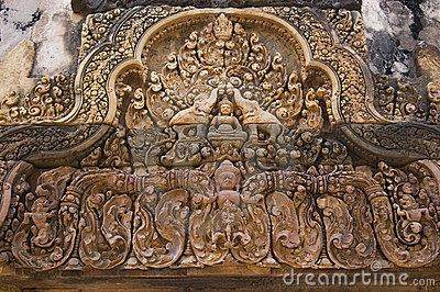 Relief at Angkor Temple