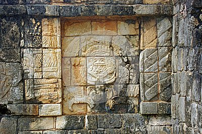 A relief in Chichen Itza, Mexico