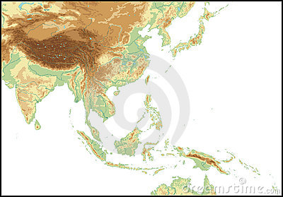 Relief Of South East Asia.