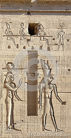 Relief at the Temple of Philae in Egypt