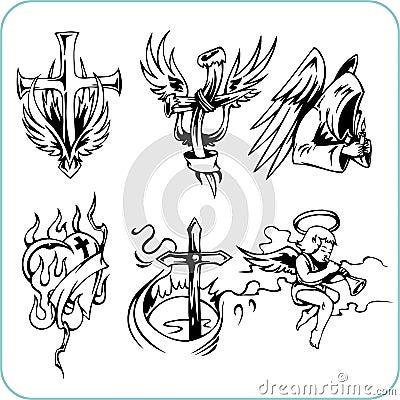 Religión cristiana - ejemplo del vector.