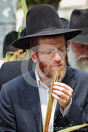 Religijny młody miedzianobrody żyd Obraz Stock Editorial