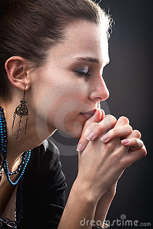 Free Religion Concept - Woman And Her Prayer Royalty Free Stock Photo - 21919585