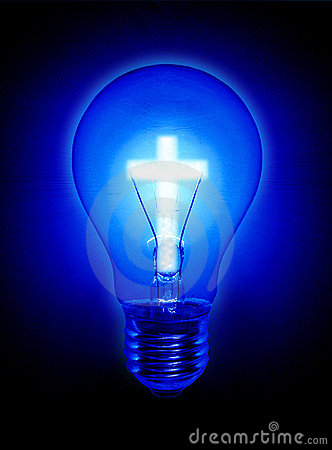 Religion Cross Light Bulb Royalty Free Stock Image - Image: 13180196