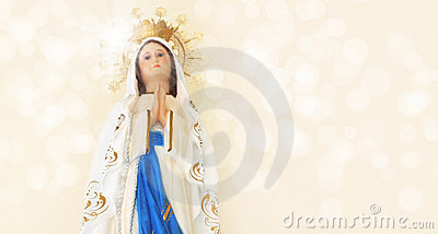 Religion holy mary statue
