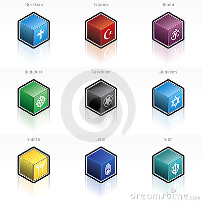Religion Icon Set 58n