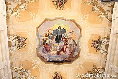 Religion roof mural