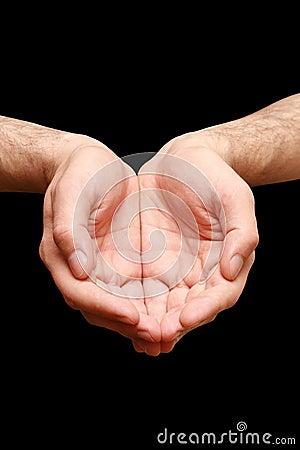 Religion prayer hands