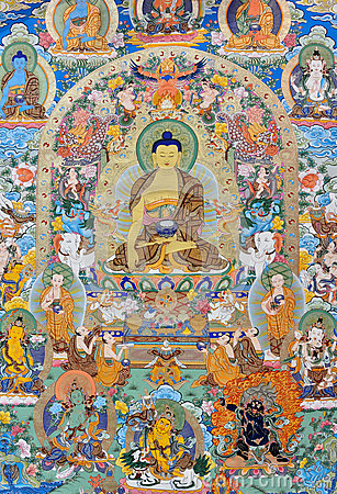 Religionmålning, Tibet, Kina