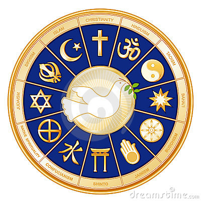 Free Religions Of The World Mandala, Dove Of Peace Stock Photo - 5820840