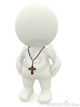 Religious 3D person