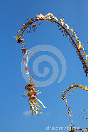 Religious balinese bamboo decoration