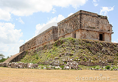Religious building in uxmal, mexico